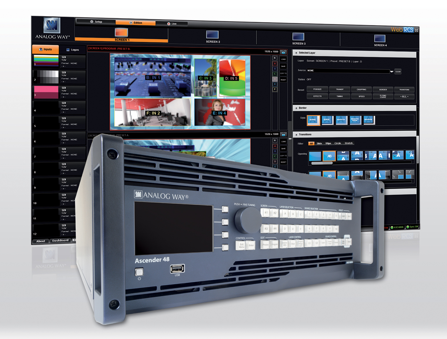 Analog Way exhibits at InfoComm Middle East Africa 2013 Booth TA-115